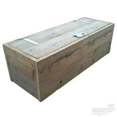 Steigerhout van Het Woonrecept Toybox scaffolding wood gray / white 100x46x40
