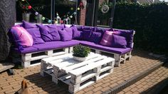 Finally done. Love it! Pallet loungeset