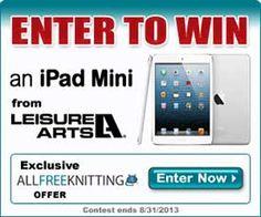 Win an iPad Mini with AllFreeKnitting and Leisure Arts!  The perfect crafting companion!
