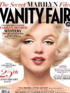 """Vanity Fair October 2008 Marilyn Monroe cover & story (Marilyn Monroe photographed by Bert Stern in 1962 on cover, The Last Sitting). """"The tragic 1962 overdose … two filing cabinets holding many of her secrets: keys to the mystery that was Marilyn Monroe. Bert Stern, Joe Dimaggio, Arte Marilyn Monroe, Vanity Fair Magazine, Magazin Covers, Vogue Mexico, Annie Leibovitz, Actrices Hollywood, Iconic Photos"""