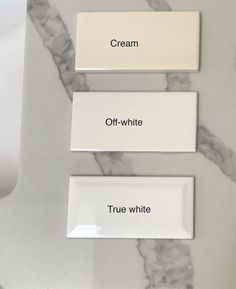 Two Steps to Choosing the Right White Tile #subwaytile #whitetile #kitchentile White Paint Colors, Paint Colors For Home, White Paints, House Colors, Wall Colors, Paint Color Pallets, Timeless Bathroom, Bathroom Color Schemes, White Subway Tiles