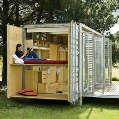 Port-a-Bach Shipping Container Holiday Home by Atelierworkshop