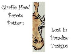 Peyote Bracelet Pattern  Giraffe Head  Peyote by LostInParadise, $6.50