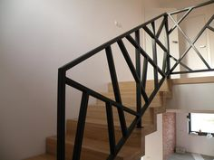 Stair Railing Design, Staircase Railings, Stair Slide, Escalier Design, Wooden Pallet Furniture, House Stairs, Home Interior Design, Home Projects, Building A House