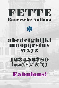 Fab Font Finds: Magico and Fette Bauersche Antiqua