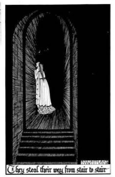 'They Steal Their Way', Hannah Frank (1928) Pen and ink 37.6 cm x 23.5 cm. Prints available for sale.