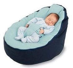 BayB Brand Bean Bag for Infants and Toddlers - Blue/Blue