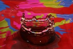Water Drop Splash by Michael Friske on Capture Wisconsin // Colore background reflected in water