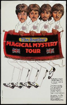 The Beatles original Magical Mystery Tour 1968 Tv movie poster