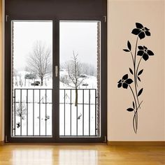 Slim Flowers Wall Sticker, Black, $29 !!