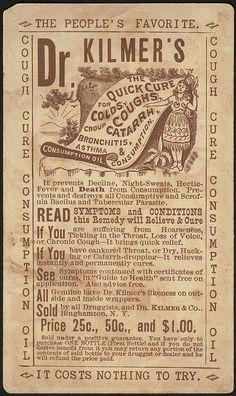 Dr. Kilmer's Indian Cough Cure Consumption Oil.