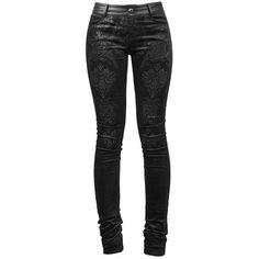 Black Damask Trousers by Punk Rave ❤ liked on Polyvore featuring pants, punk rock pants, velvet pants, velvet trousers, punk pants and pocket pants