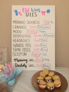 baby reveal Gender Reveal Party Baby shower gender reveal party ideas girl or boy old wives tales DIY made w. Simple Gender Reveal, Gender Reveal Party Games, Pregnancy Gender Reveal, Gender Reveal Party Decorations, Baby Shower Gender Reveal, Baby Reveal Party Ideas, Gender Reveal Paint, Gender Reveal Outfit, Ideas Party