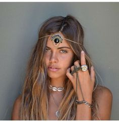 Prepping for festival season? Don't forget your head and opt for a boho babin head chain. For best results spray sea salt in your hair and scrunch for the perfect wave…. Shop Hair Accessories