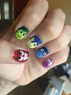 Inside Out Movie Nail Design