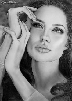 Angelina Jolie Portrait by riefra on deviantART ~ pencil portrait by Arief Kurniawan