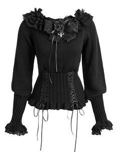 Pull gothique lolita noir PYON PYON