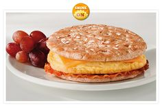 Jimmy Dean | Delights Bacon, Egg & Cheese Honey Wheat Flatbread #JimmyDean
