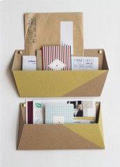 mail tri postal décoration papier tigre