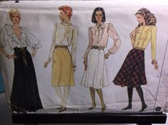 Gored Skirt 80s Vintage Sewing Pattern Vogue 9055 UNCUT Sizes 8-10-12 by MrsPsSewingEmporium on Etsy