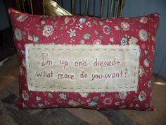 Prim Stitchery Up and Dressed Pillow OFG Team by scrapsofthepast, $9.00