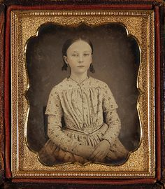 Daguerreotype of a young woman probably circa 1839-55