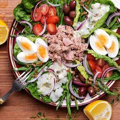 Salat Nicoise, Diet Recipes, Healthy Recipes, Healthy Food, Poke Bowl, Antipasto, Cobb Salad, Healthy Life, Salads