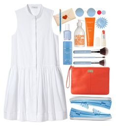 """Little White Shirtdress"" by youaresofashion ❤ liked on Polyvore featuring Essie, Piamita, Cole Haan, La Compagnie de Provence, Sachajuan, Uslu Airlines, Dolce&Gabbana, Nails Inc., Sunday Somewhere and shirtdress"