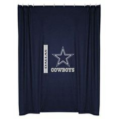 Dallas Cowboys Kids Fabric Shower Curtain