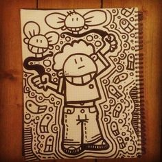 #drawing with a #marker #pen on #paper / #art #handcraft #Instagram