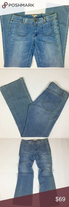 ⬇️$69 CABI Light Wash Flare Stretch Denim Jeans CABI Malibu Light Wash Flare Stretch Denim Jeans   CABI Size 12 86% cotton 14% elasterell  Light wash denim Flare jeans  Wide leg jeans Two pockets in the front New without tag  Inseam: 34 1/2 inches - Waist: 17 1/2 inches - Rise: 10 1/4 inches CAbi Jeans Flare & Wide Leg