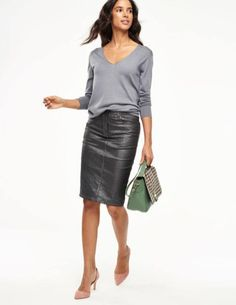 Cool Winter Outfits Ideas With Pencil Skirt 03