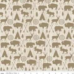 Riley Blake High Adventure Main Cotton Patchwork Quilting Fabric Camping in Crafts, Fabric Canadian Quilts, Trend Fabrics, Fabric Yarn, Riley Blake, Modern Prints, Baby Quilts, Printing On Fabric, Patchwork Quilting, Quilting Fabric