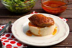 cotlet-de-porc-cu-sos-barbeque Muffin, Pudding, Breakfast, Desserts, Pork, Breakfast Cafe, Tailgate Desserts, Muffins, Deserts
