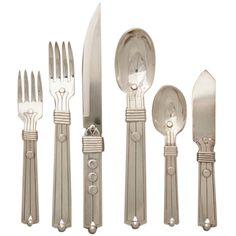 1stdibs | William Spratling Very Rare Sterling Silver Flatware Set