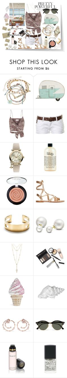 """The Cutest Summer Sandals"" by k-ravasio ❤ liked on Polyvore featuring Decree, Dot & Bo, Zimmermann, Stolen, Vivienne Westwood, philosophy, Gianvito Rossi, Tiffany & Co., Allurez and House of Harlow 1960"