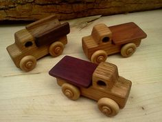 Handcrafted Wooden Flatbed Truck by PurcellToys on Etsy