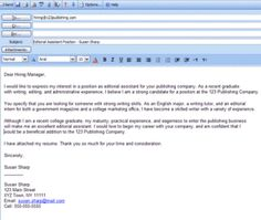Best Formats for Sending Job Search Emails | Cover letter format