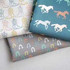 gallop  horse fabric  original fabric  fat by KatherineCodega. , via Etsy.