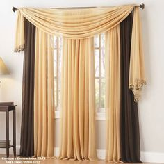 Ways To Hang Curtains ways to hang scarf valances | an, cream and window