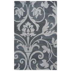 Rizzy Home Marianna Fields Woolen Rug In Grey Color 9'x12', Gray