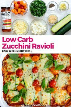Healthy Dinner Recipes, Low Carb Recipes, Vegetarian Recipes, Easy Weeknight Meals, Easy Meals, Zucchini Ravioli, Fries, Pasta Alternative, Italian Pasta Recipes