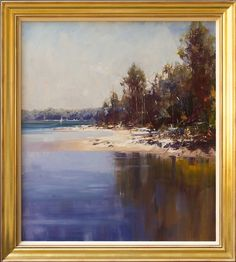 #14452 Ken Knight 'Smoke Haze on the Lake - Narabeen'