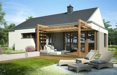 Wooden Pergola Patio Videos - - Pergola Attached To House Decks Porch Ideas - Easy Pergola Ideas DIY - Pergola Patio Videos Furniture Pergola Carport, Pergola Canopy, Deck With Pergola, Wooden Pergola, Outdoor Pergola, Backyard Pergola, Patio Roof, Backyard Landscaping, Pergola Lighting