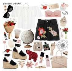 """""""easter weekend baby [#527]"""" by hello-crazy ❤ liked on Polyvore featuring Valentino, Sephora Collection, Chloé, Aerie, Givenchy, Dana, Trish McEvoy, Van Cleef & Arpels, Arme De L'Amour and Grace"""