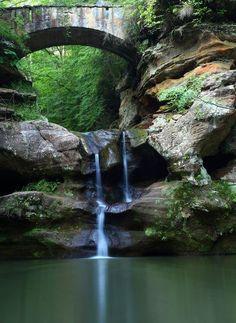 Old Mans Cave Bridge, Hocking Hills, Ohio