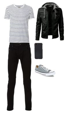 """Dream guy-ish"" by diane-t-t ❤ liked on Polyvore featuring Witchery, Diesel, Converse, Shinola, men's fashion and menswear"