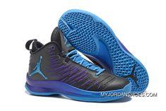 f36bcb908 Cheap Sale Jordan Super.Fly 5 Black Purple Blue Best. High Top Basketball  ShoesLogo ...
