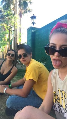Lili Reinhart, Cole Sprouse & Camila Mendes.