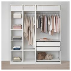 Walk In Closet Hacks Ikea Pax Wardrobe Ideas Ikea Pax Wardrobe, Diy Wardrobe, Bedroom Wardrobe, Wardrobe Ideas, Ikea Wardrobe Closet, Open Wardrobe, Ikea Wardrobe Design, Wardrobe Interior Design, Bedroom Closets
